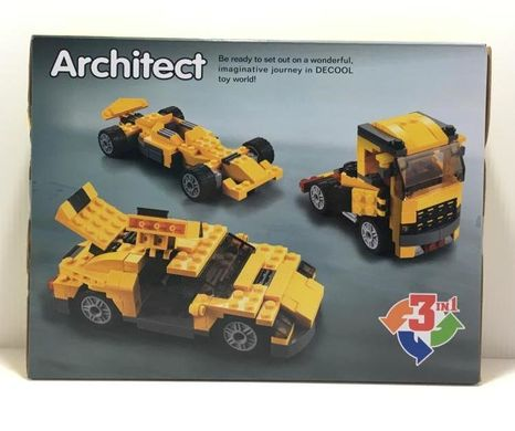 Конструктор Decool Architect 3113 автомобиль 3 в 1 (3113)